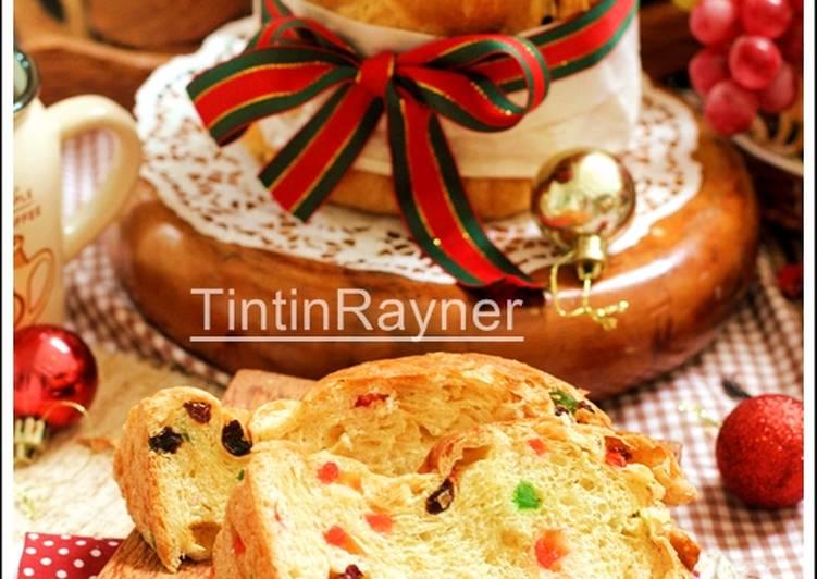 Langkah Mudah untuk Menyiapkan Pannetone Roti Natal khas Italia – Italian Christmas Bread- Trial langsung enyak Anti Gagal