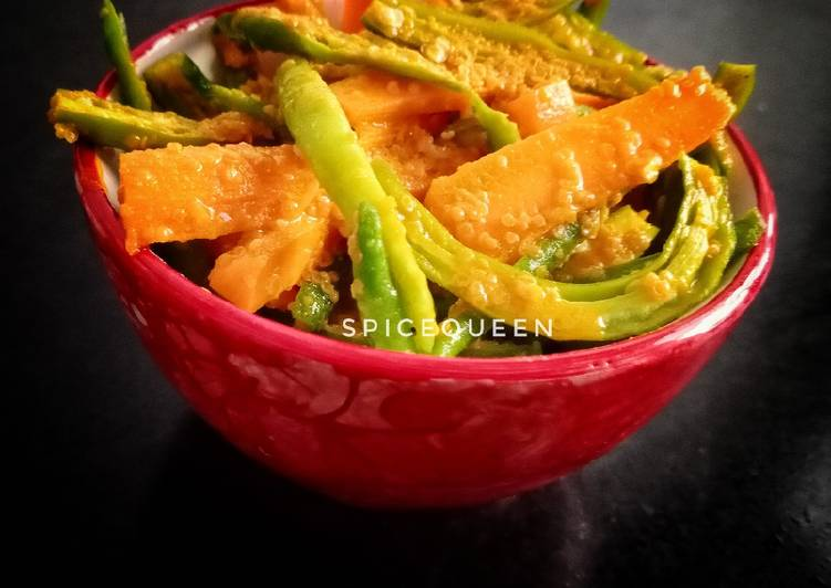15 Minute How to Make Diet Perfect Chilli Carrot Pickle