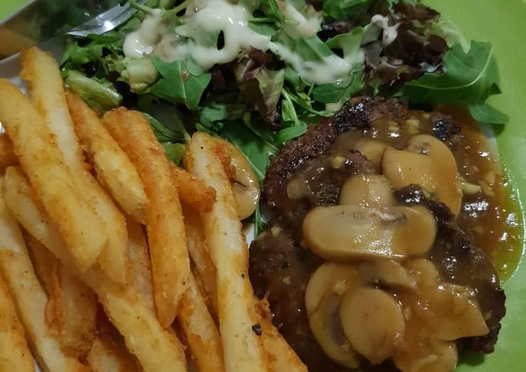 Beef burger saus jamur