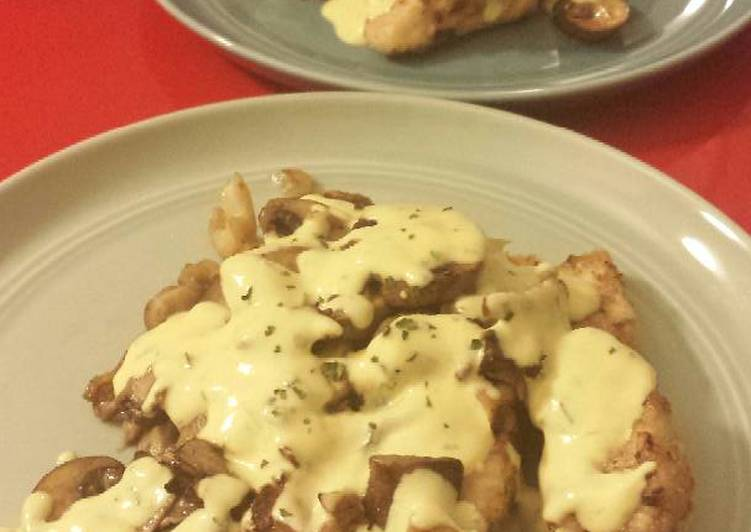 Step-by-Step Guide to Make Any-night-of-the-week Chickenwith Mushrooms & Mustard