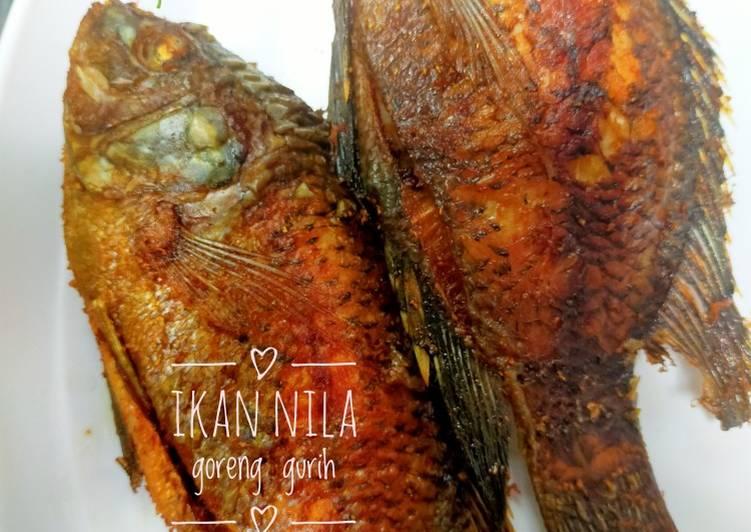 Resep Ikan nila goreng gurih Anti Gagal