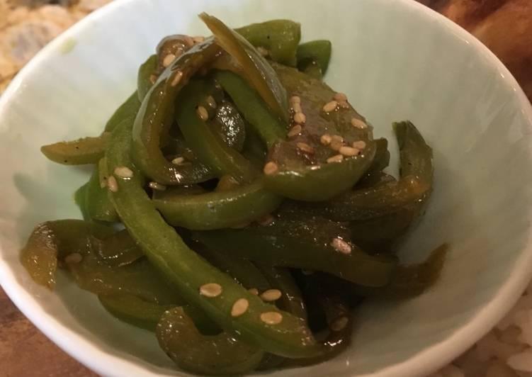 Sautéed green bell pepper