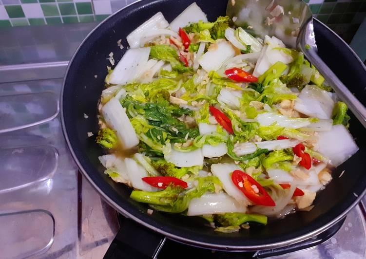 Tumis Sawi Putih + Brokoli