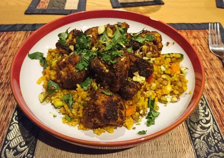 Try Using Food to Boost Your Mood Lentil and apricot pilaf with spiced cauliflower