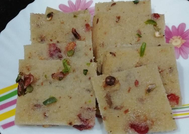 Simple Way to Prepare Favorite Suji ki Burfi
