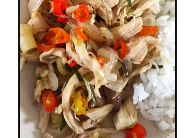 Ayam Suwir Sambal Matah (Diet)