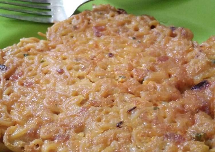 Resep Omlet Indomie Ayam Geprek Hype Abis (Ala Anak Kos) Paling Enak