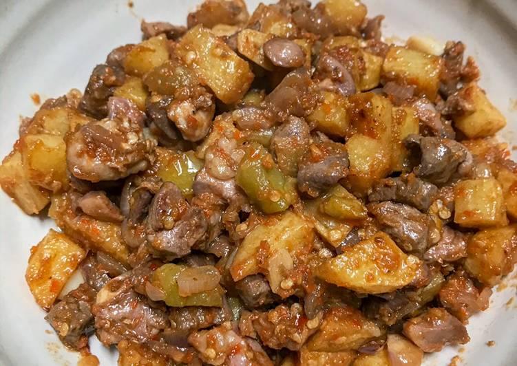 Sambal goreng hati kentang