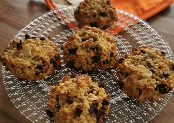 Cookie healthy aux flocons d'avoine et chocolat