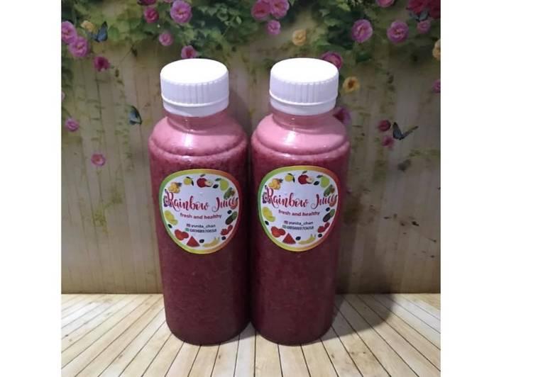Diet Juice Beetroot Purple Cabbage Orange Blueberry Banana