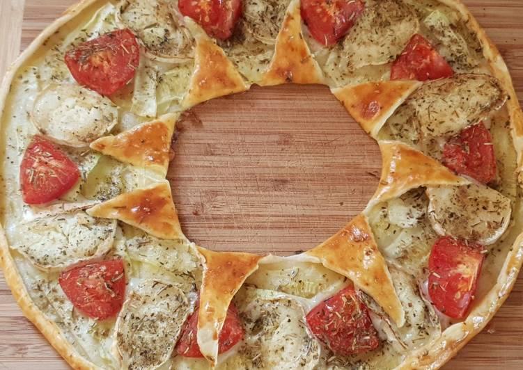 Comment Cuisiner Couronne aux courgettes, tomates & chèvre