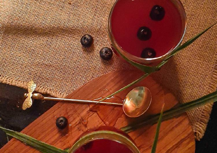 Step-by-Step Guide to Make Perfect Blueberry lemongrass hot toddy