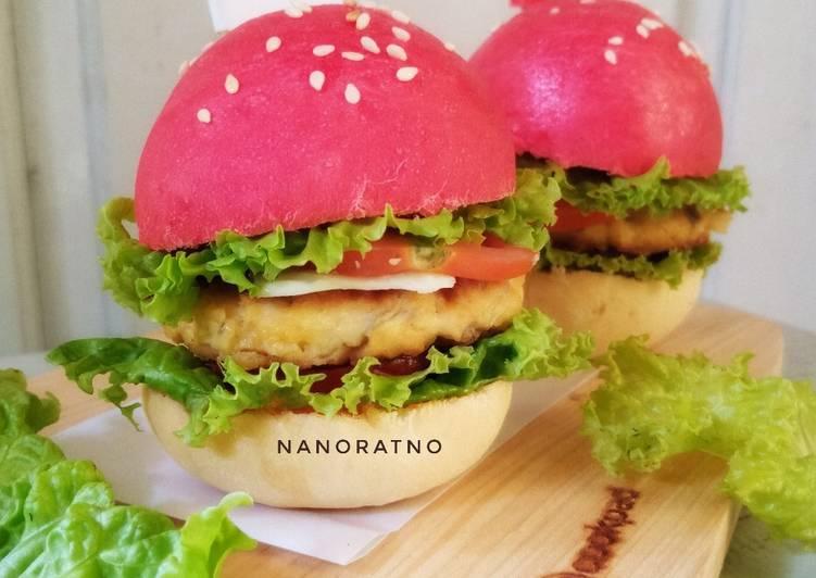 Burger Tempe Merah Putih