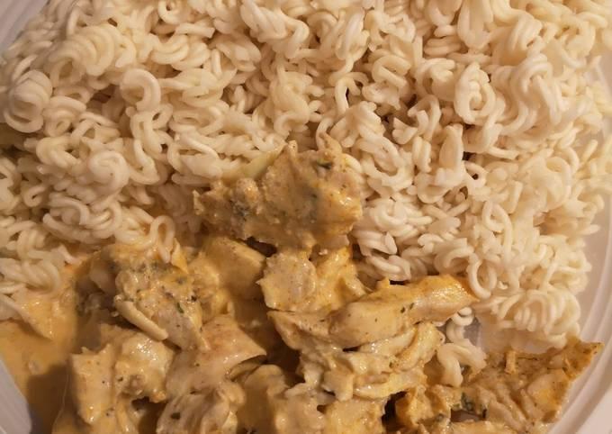 Nouilles au poulet façon Gyros simple