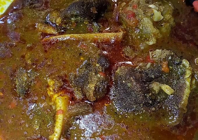 Dry okro soup