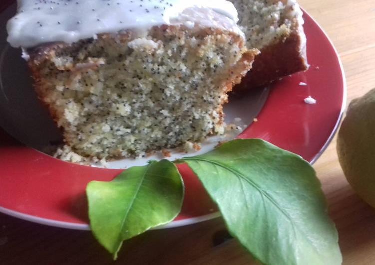 Cake citron pavot-double glaçage