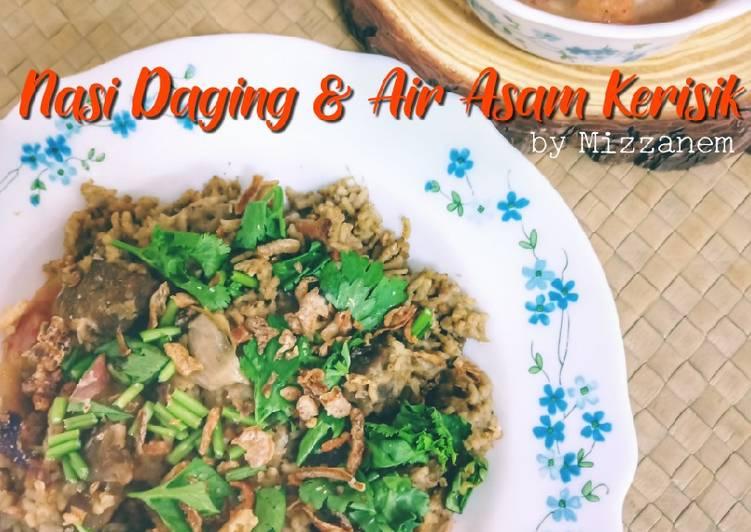 Nasi Daging & Air Asam Kerisik - resepipouler.com