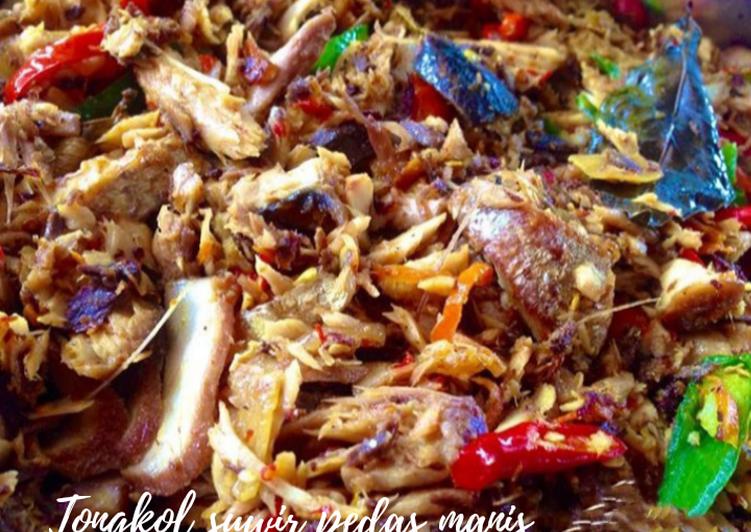 Tongkol suwir pedas manis - cookandrecipe.com