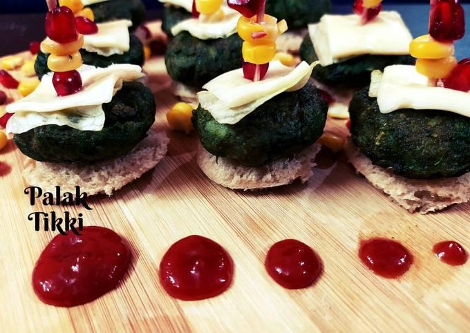 Palak Tikki |healthy high protein snack