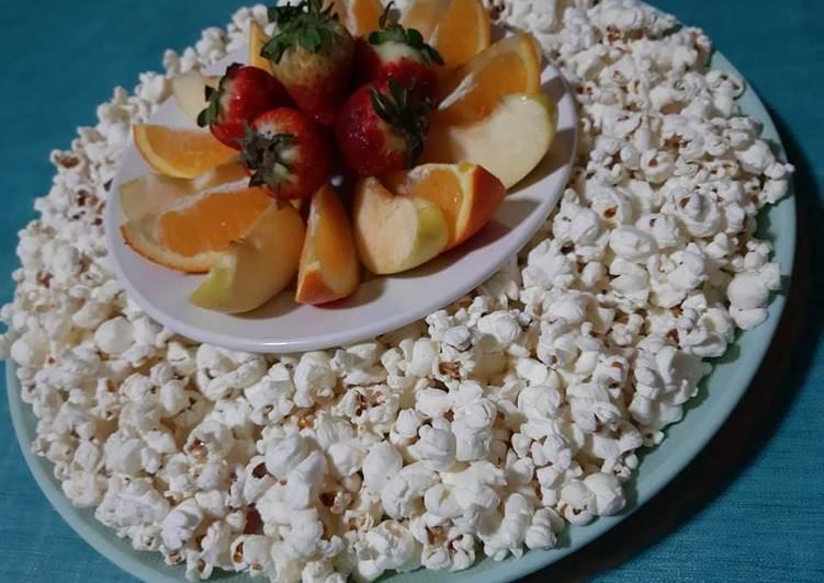 Recette Savoureux Pop corn sans matière grasse 🍿