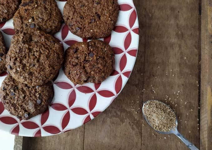 Cookies choco-noisettes-sesame IG Bas