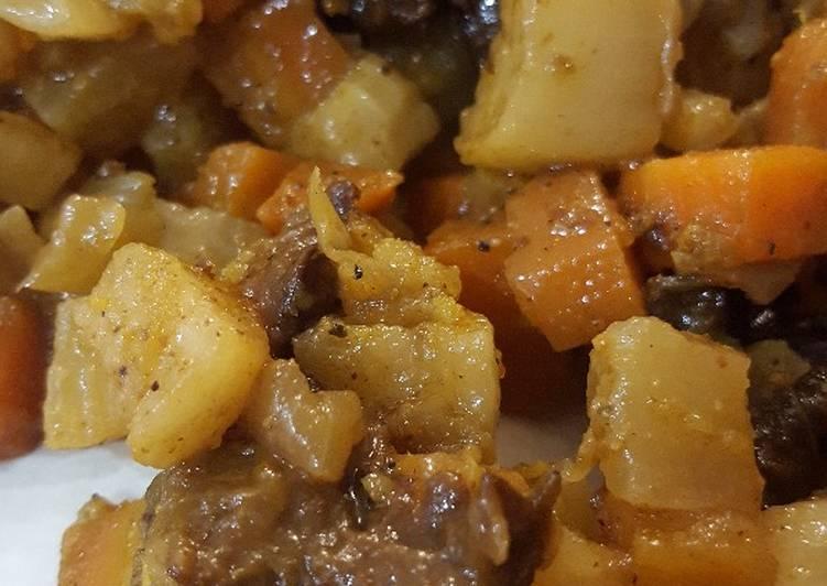 Poêlé navets carottes pruneaux