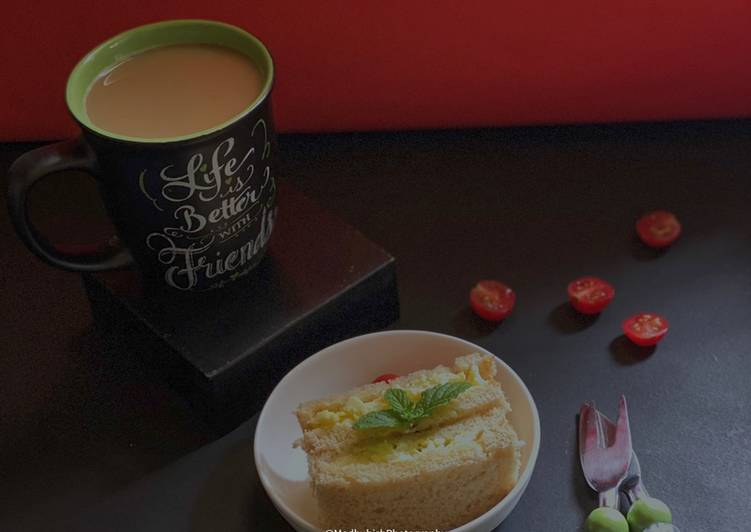 Coffee Time with Scrambled Egg Sandwich