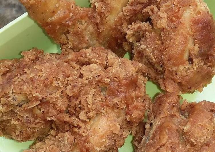 Resep Ayam Kriuk Kriuk (mirip kfc), Lezat