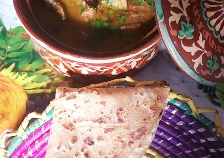 Easiest Way to Prepare Award-winning Aloo gosht with roti