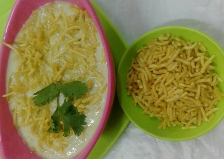 Hearty Comfort Dinner Easy Quick Spicy Minty Sev Raita