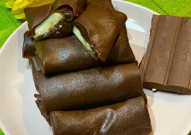 Dadar Gulung Pisang cokelat (anti gagal)