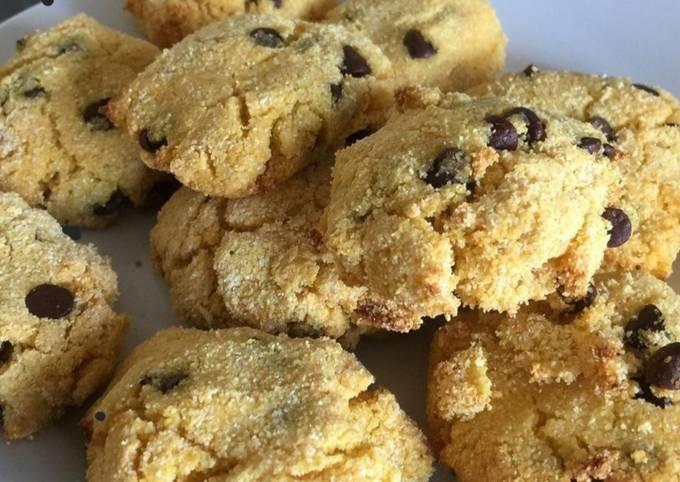 Cookies de polenta et pépites de chocolat 🍫