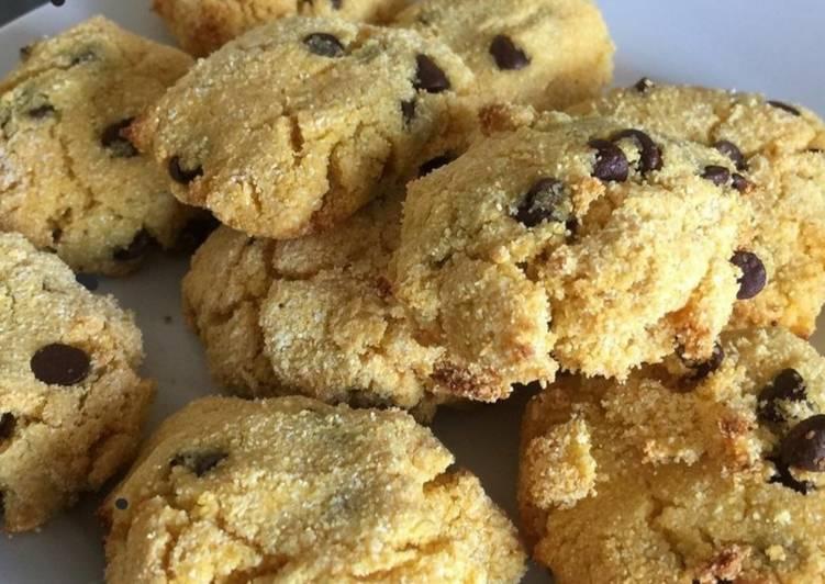 Recette Délicieuse Cookies de polenta et pépites de chocolat 🍫