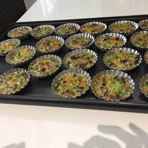 Tartaleta individuales de vegetales para dieta