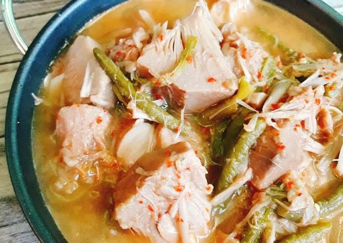 sayur lodeh - tetelan, nangka muda & kacang panjang - resepenakbgt.com