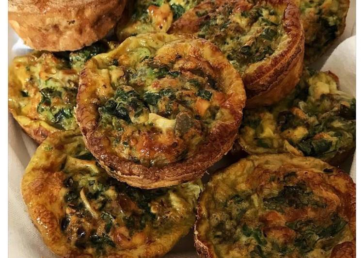 Recipe of Perfect SPINACH & MUSHROOM EGG MUFFINS