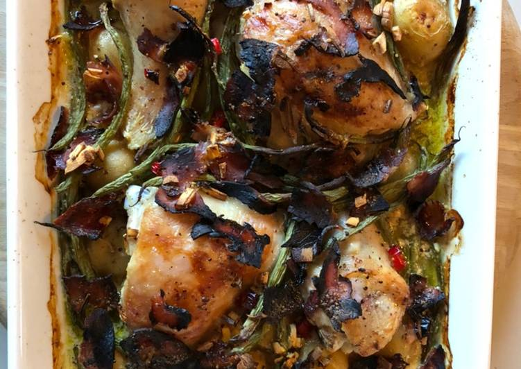 Try Using Food to Improve Your Mood Chicken, potato & crispy ham supper
