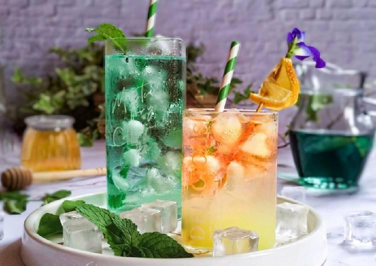 Lemonade Ais Telang - resepipouler.com