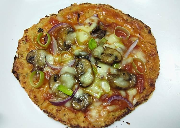 Cauliflower crust pizza-gluten free