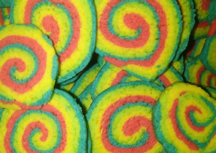 Cara Gampang Membuat 01.Kuping gajah rainbow Anti Gagal