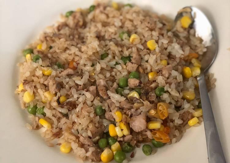 Nasi Goreng Shirataki Tuna