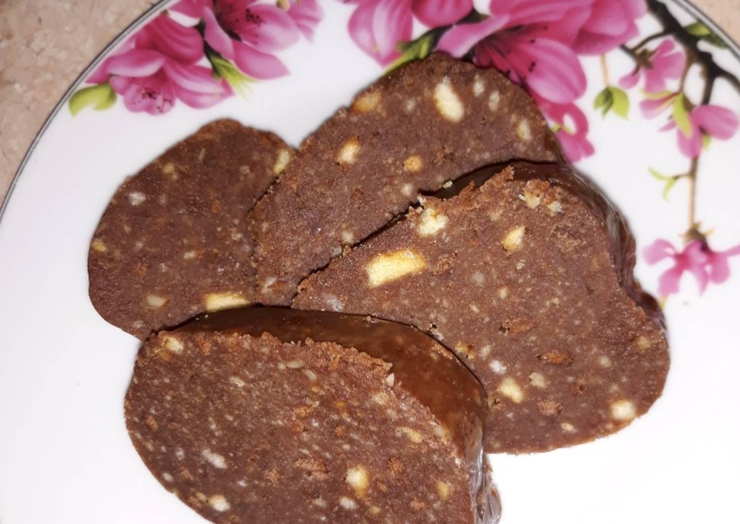 Шоколадная колбаса рецепт с фото пошаговый тех