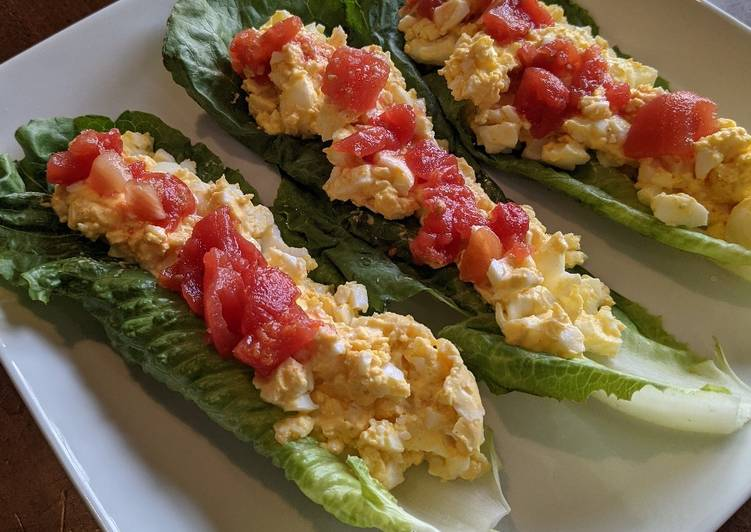 Simple Way to Make Super Quick Homemade ChefMasterDad's Deviled Egg Salad Boats