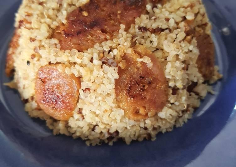 Quinoa et saucisses à la citronnelle