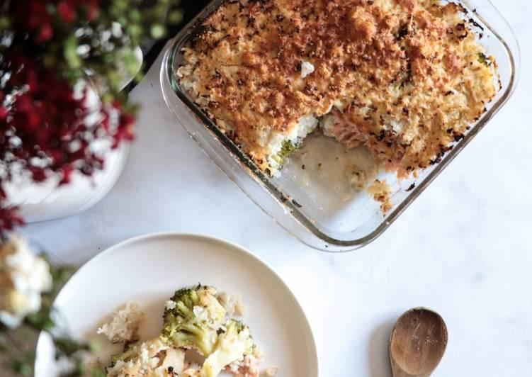 recette Parmentier saumon - brocolis Le plus simple