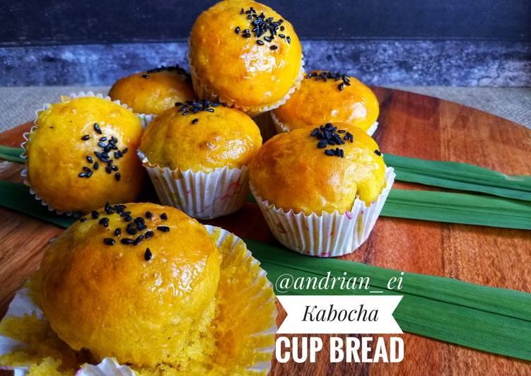 Kabocha Cup Bread (Tanpa Telur, Tanpa Ulen)