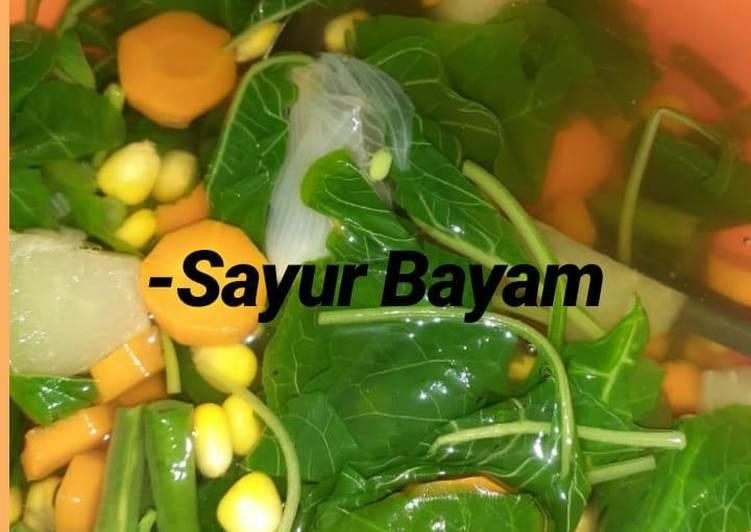 Sayur bayam / Sayur bening