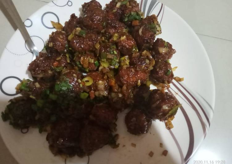 Easiest Way to Prepare Homemade Fried Manchurian balls
