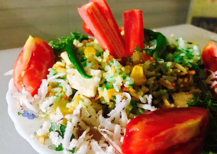 Easiest Recipe: Delicious Mix veg briyani with grated coconut