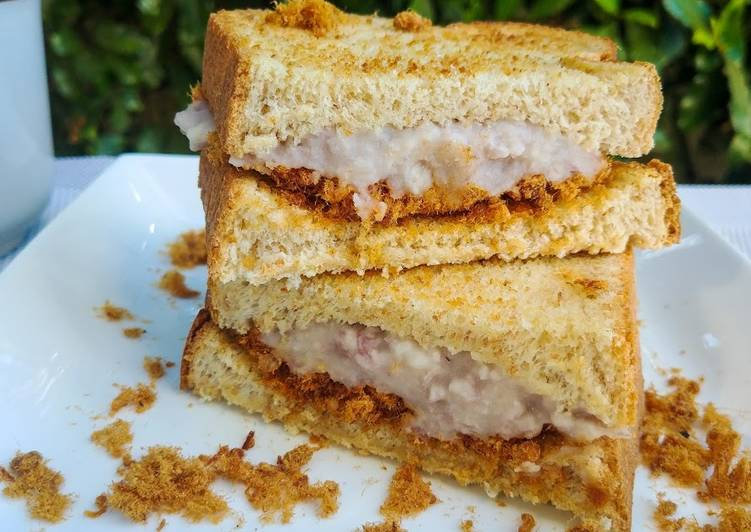 How to Cook Tasty Taro Rousong Sandwich